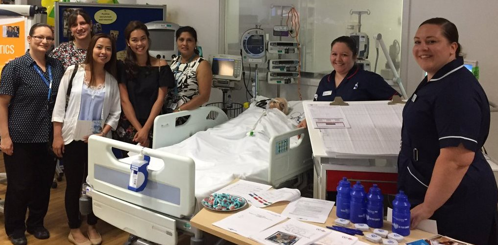Pictured are staff on the anaesthetics stall