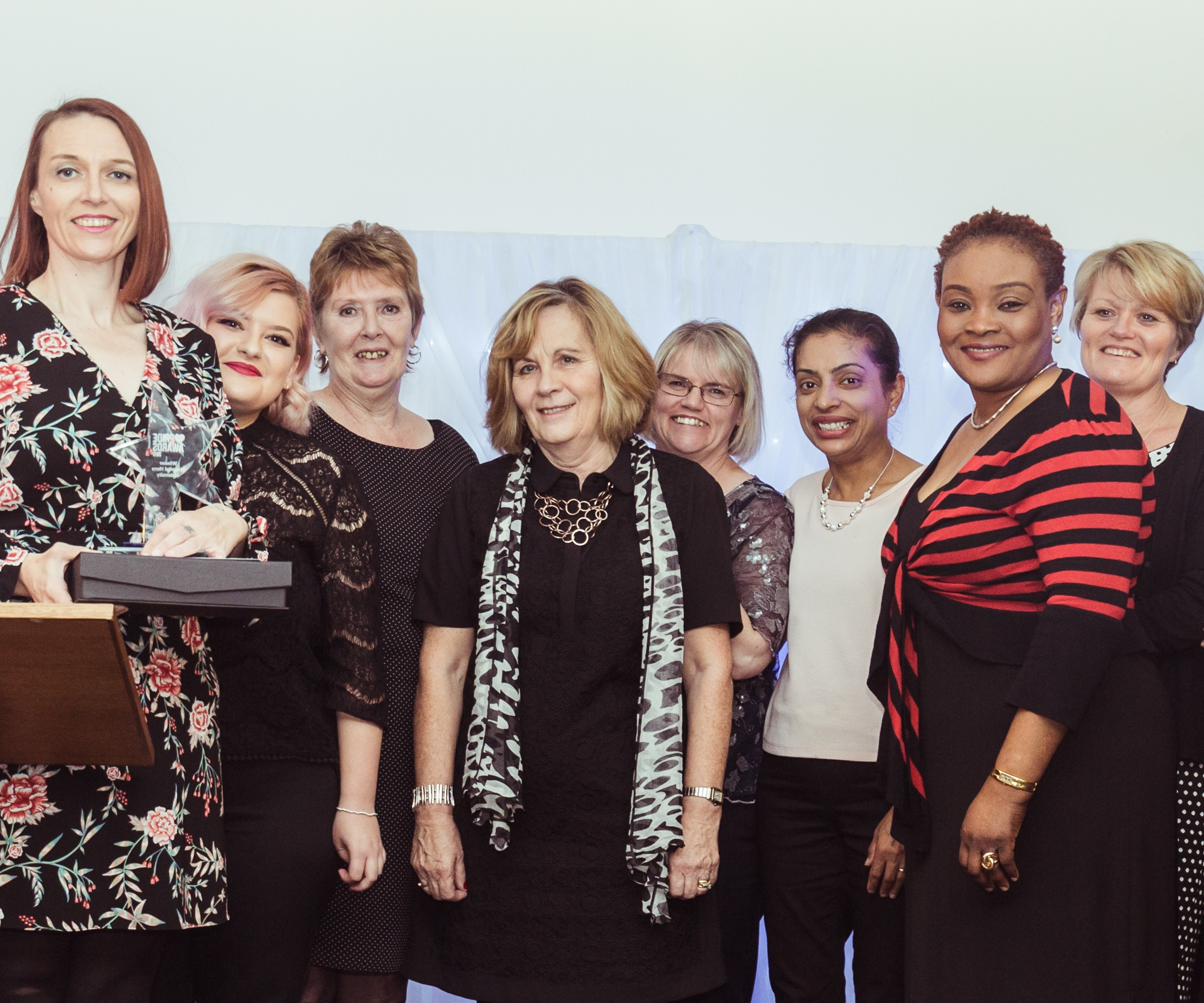 maternity team at staff awards