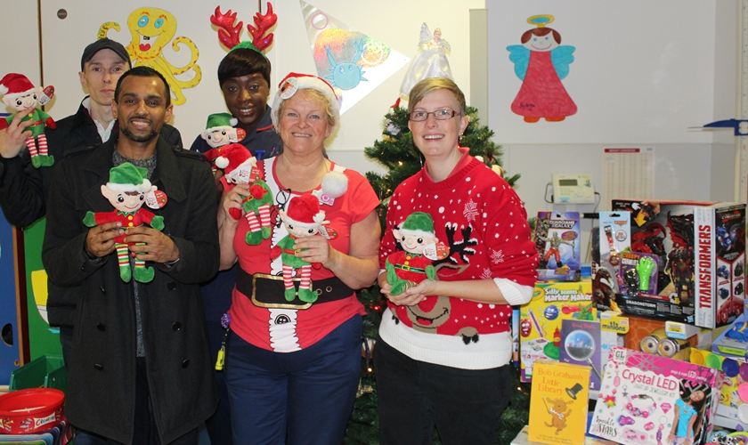 Pictured are Lennox Children's Cancer Fund fundraisers and staff from the children's ward at Queen's Hospital