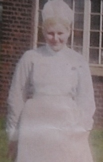 Diane at Oldchurch Hospital when she first started her training
