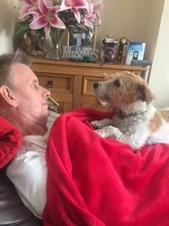 Steve with his dog Jinny