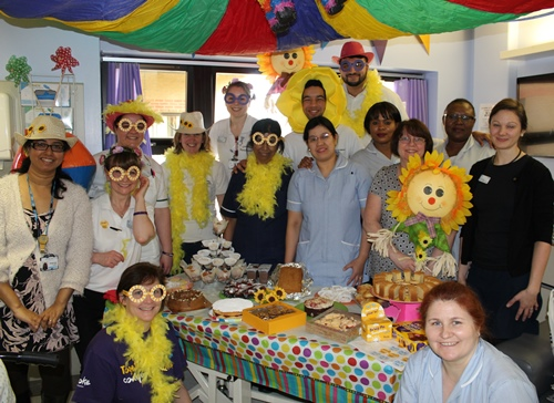 Staff from Beech ward raising funds for the Stroke Association