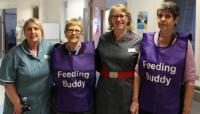 Our feeding buddies with Kathryn, our Chief Nurse